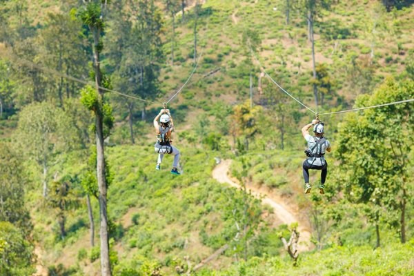 Zip Lining in Ella